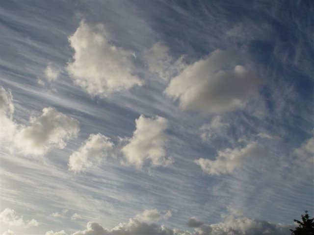 Streaky clouds