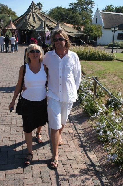 Alistair and Carmen at Moyo - Stellenbosch