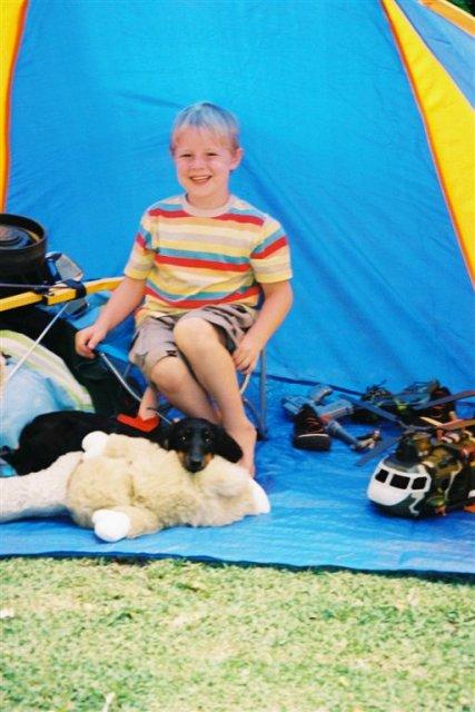 Cameron & Josh - tent