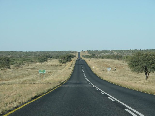Road to nowwhere in Namibia