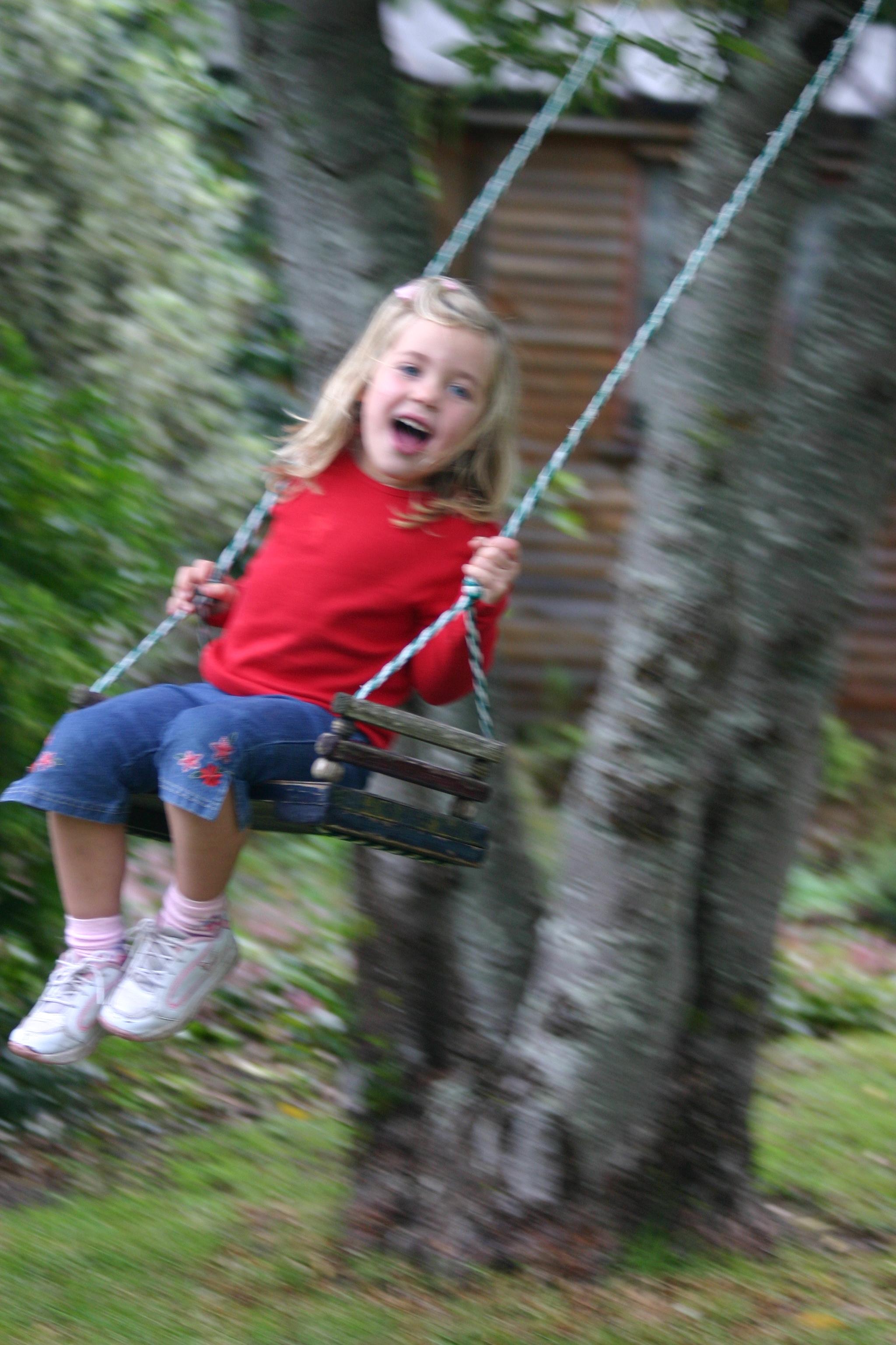 Michaela swinging