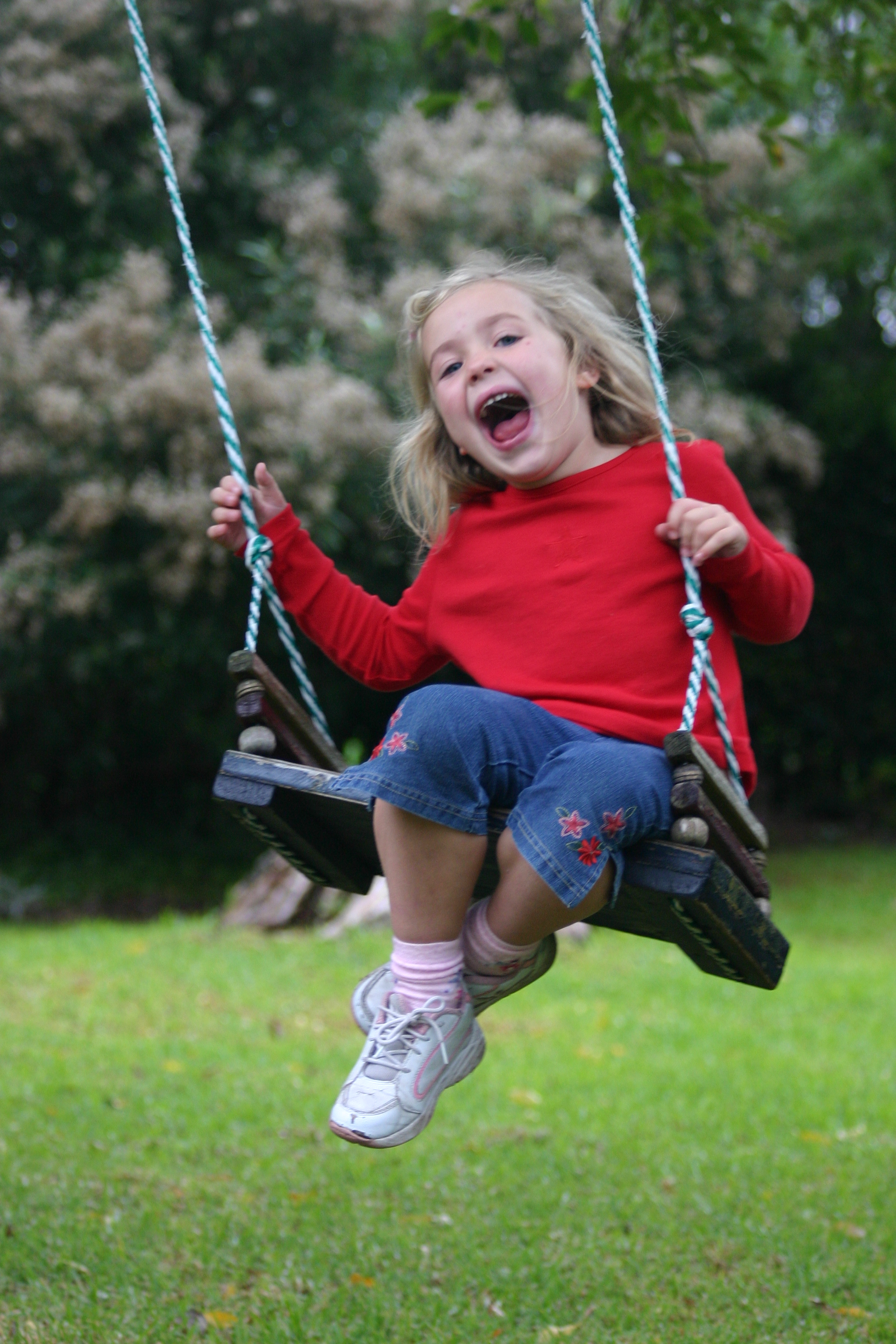 Michaela swinging
