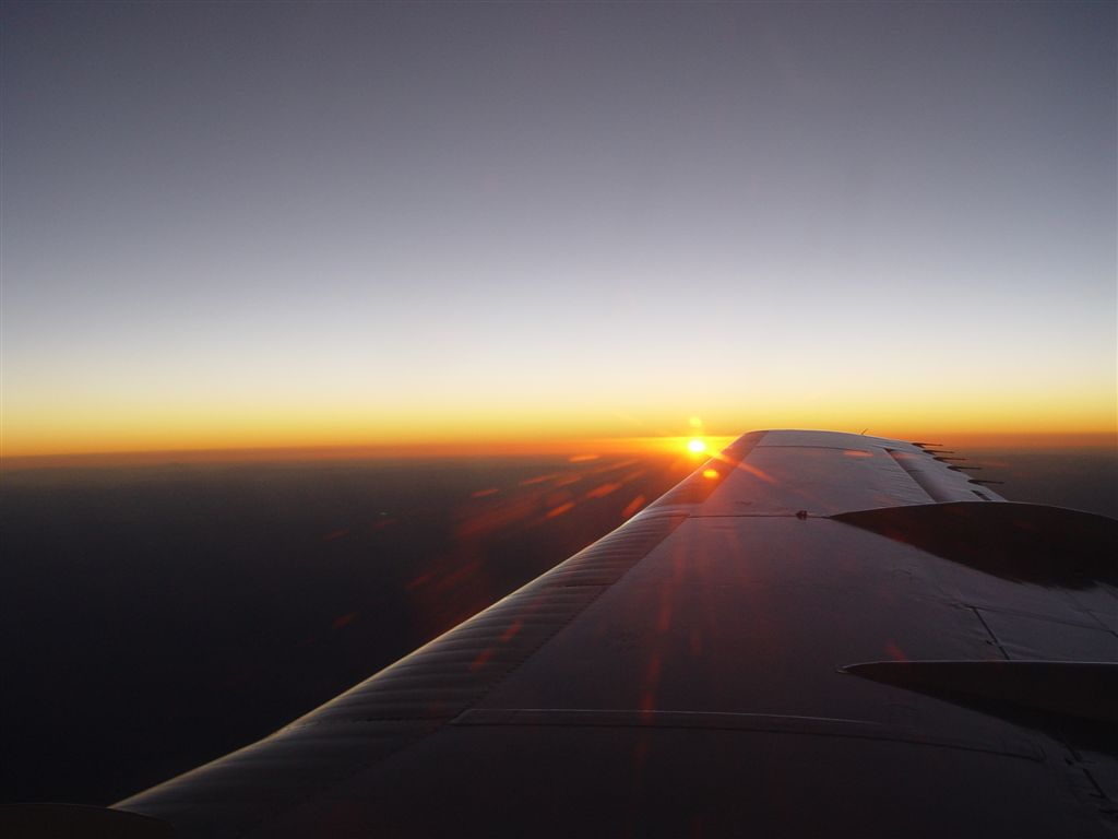 Sunset from plane