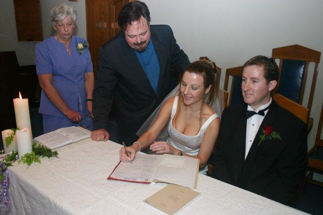 Louise signing